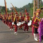 Tim Drum Band Wahana Melodi Nusantara MTsN 10 Tanah Datar Berpartisipasi dalam Acara Khatam Qur'an Nagari Situmbuk Tahun 2020