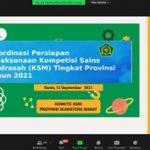 Koordinasi Pelaksanaan KSM Provinsi 2021 dan Pengisian Aplikasi Siap Belajar